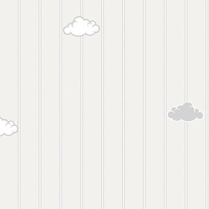 çizgili gri bulutlu ada kids duvar kağıdı