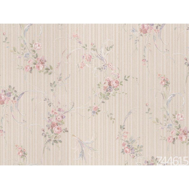Zambaiti Parati Satin Flowers Z44615 Çiçekli İtalyan Duvar Kağıdı